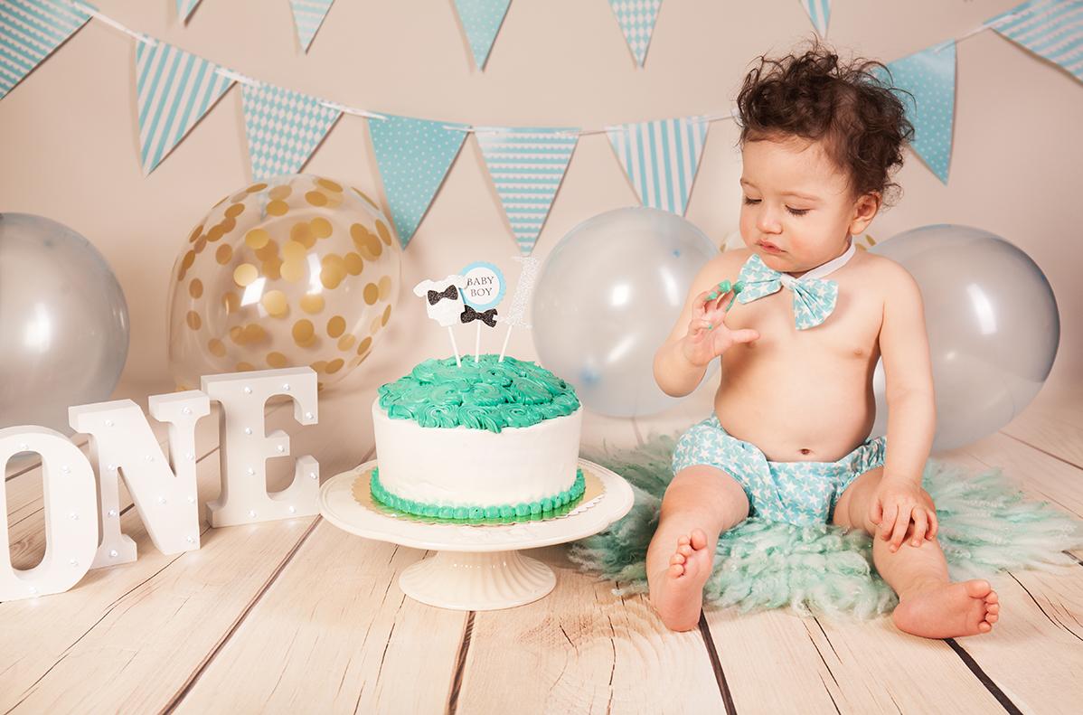 Cake Smash Fotoshooting erster Geburtstag